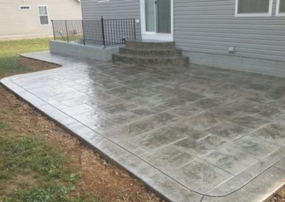 Stamped Concrete Patio and Steps
