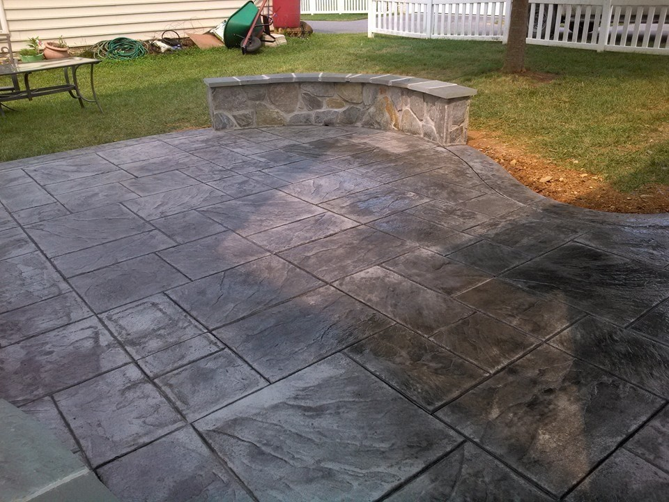 Wonderful Decorative Stamped Concrete Patio