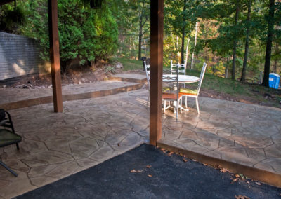 Broken Flagstone Stamped Concrete Patio