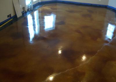 Acid Stain Basement Floor