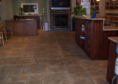 Ashlar Slate Stamped Interior