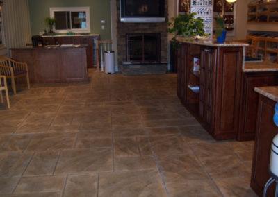 Ashlar Slate Stamped Interior
