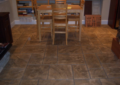 Ashlar Slate Stamped Interior Floor