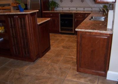 Ashlar Slate Stamped Kitchen Floor