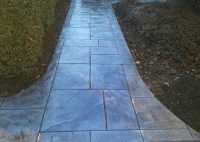 Ashlar Slate Stamped Sidewalk