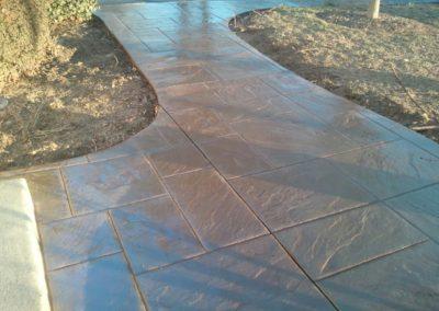 Ashlar Slate Stamped Walkway