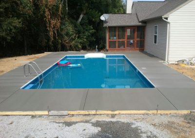 Broomed Finish Concrete Pool Deck