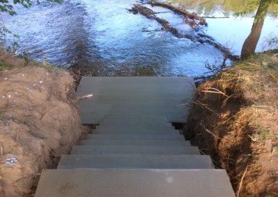 Concrete Steps into River