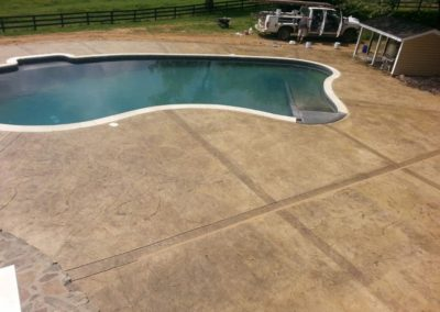 Decorative Pool Deck