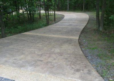 Jumbo Texture Stamped Driveway