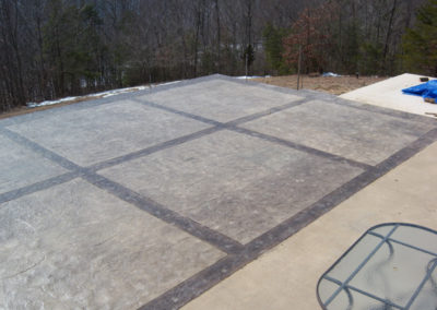 Large Patio Pool Deck with Border