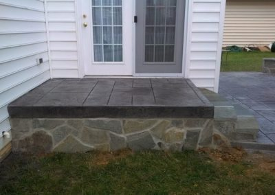 Masonry Steps with Concrete Patio