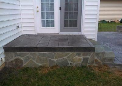 Masonry Steps with Concrete Patio