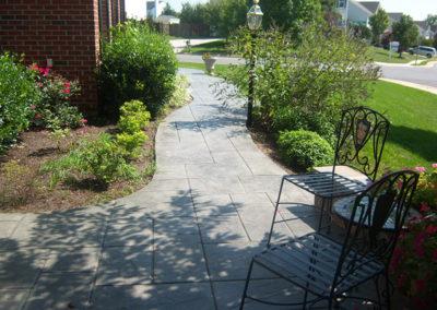 Slate Stamped Walkway