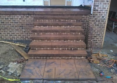 Stamped Concrete and Masonry Steps