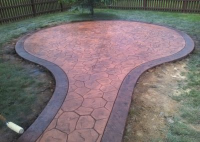 Stamped Walkway & Patio
