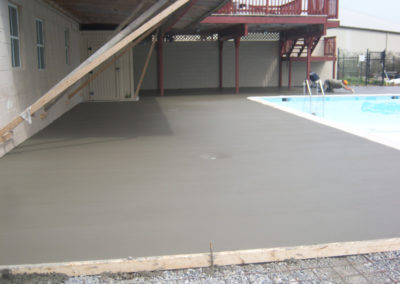 White Concrete Pool Deck