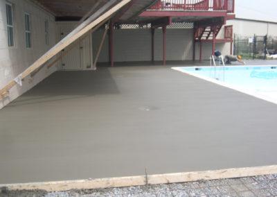 White Concrete Pool Deck